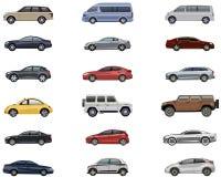 Reeks van auto Stock Afbeeldingen