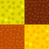 Reeks van Autumn Seamless Patterns Stock Foto's