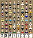 Reeks van avatars de mens Stock Fotografie