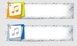 Reeks van banner twee Royalty-vrije Stock Afbeeldingen