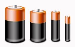 Reeks van batterij Royalty-vrije Stock Afbeeldingen
