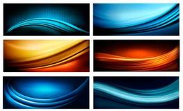 Reeks van bedrijfs elegante kleurrijke abstracte backgrou Royalty-vrije Stock Foto