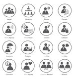 Reeks van bedrijfspictogram in vlak ontwerp Stock Fotografie