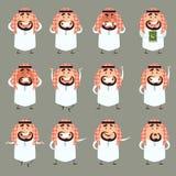 Reeks van beeldverhaal moslimicons2 Royalty-vrije Stock Afbeeldingen