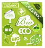 Reeks van bio, eco, organische elementen Stock Fotografie