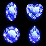 Reeks van blauwe geometrisch Royalty-vrije Stock Foto