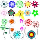 Reeks van bloem Stock Fotografie