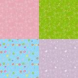 Reeks van bloemen naadloos patroon Royalty-vrije Stock Afbeelding