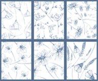 Reeks van bloempatroon Royalty-vrije Stock Foto's