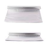 Reeks van broodje van het document van de aluminiumfolie over geïsoleerde witte achtergrond stock afbeeldingen