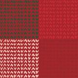 Reeks van bruin naadloos patroon met hand getrokken tikken Stock Foto