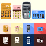 Reeks van calculator royalty-vrije stock fotografie