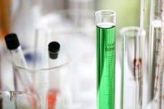 Reeks van Chemische buisontwikkeling en apotheek in laboratorium, bioc royalty-vrije stock afbeelding