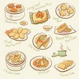 Reeks van Chinees voedsel. Royalty-vrije Stock Foto