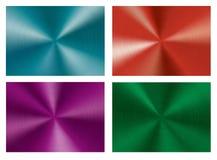 Reeks van Cirkelmetaal geborstelde textuur Stock Fotografie