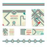 Reeks van collectieve bedrijfskantoorbehoeftenbrochure Royalty-vrije Stock Afbeeldingen