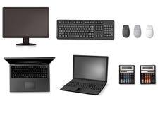 Reeks van computers en elektronika. stock illustratie