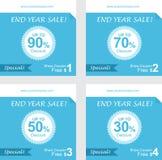 Reeks van couponkorting, giftbons, vrije couponvector Royalty-vrije Stock Fotografie