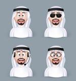 Reeks van 3D Afmetings Arabische Mens in Verschillende Beroeps vector illustratie