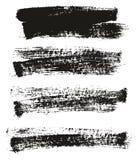 Reeks van de achtergrond verfborstel Hoge Detail Abstracte Vector Als achtergrond 32 stock illustratie