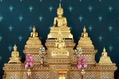 Reeks van de beeldenlijst van Boedha Royalty-vrije Stock Afbeeldingen