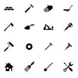 Reeks van de Bouw Simbols in Vlak Ontwerp vector illustratie