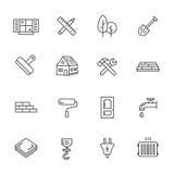 Reeks van de Bouw Simbols in Vlak Ontwerp Royalty-vrije Stock Afbeeldingen
