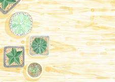 Reeks van de cactus de hoogste mening royalty-vrije illustratie
