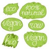 Reeks van de colorfullillustratie van de veganistdag de vector Royalty-vrije Stock Afbeeldingen