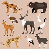 Reeks van de dierlijke Vectorillustratie van het Verre Oosten royalty-vrije illustratie