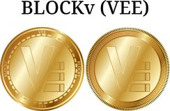 Reeks van de fysieke gouden V van muntstukblockv Stock Fotografie