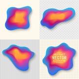 Reeks van de Gradiënt van Ontwerpelementen Blauwe, Roze en Gele Gestileerde B Stock Afbeelding