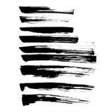Reeks van de grungevector en inkt slagen Royalty-vrije Stock Afbeeldingen