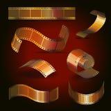 Reeks van de het broodjes de gouden kleur van de camerafilm, vector vector illustratie