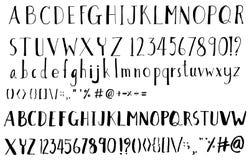 Reeks van van de de illustratie de Hand getrokken Schets van de Doopvontborstel lijn vectoreps Royalty-vrije Stock Afbeelding