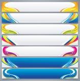 Reeks van de kleuren de abstracte banner stock illustratie