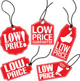 Reeks van de lage prijs de rode markering, vectorillustratie Stock Foto