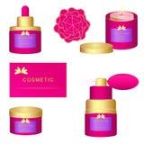 Reeks van de luxe de kosmetische therapie Stock Afbeelding