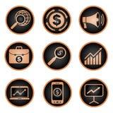 Reeks van de marketing van pictogrammen Royalty-vrije Stock Foto's