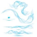 Reeks van de mooie abstracte achtergrond van mengsel massieve golven Stock Foto's
