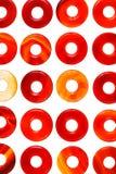 Reeks van de opgepoetste cirkels van de het agaatsteen van de doughnutvorm Stock Foto's