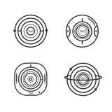 Reeks van de pictogrammen van 360 gradenvideocamera's Royalty-vrije Stock Afbeeldingen
