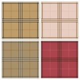 Reeks van de de plaid naadloze textuur van geruit Schots wollen stof de Koninklijke Stewart vector illustratie