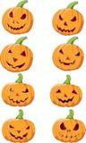 Reeks van de pompoen van Halloween Royalty-vrije Stock Afbeelding