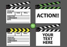 Reeks van de raad van de filmklep Vector Illustratie