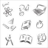 Reeks van de Schets van het onderwijs de Vector Royalty-vrije Illustratie