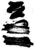 Reeks van de slag van de grungeborstel Stock Afbeelding