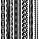 Reeks van de sporen, de slepen, de sporen en im van het voertuigwiel Stock Foto's