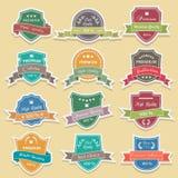 Reeks van de stickervector van premiekwaliteitslabels Royalty-vrije Stock Fotografie
