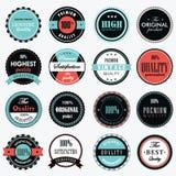 Reeks van de Uitstekende Vector van de Etiketpremie Stock Foto's